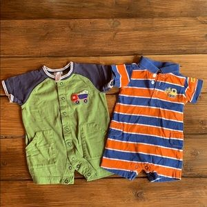 Carters lot of 2 rompers